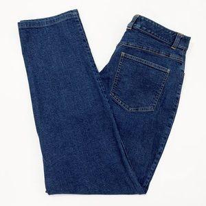 Talbots Womens Jeans Size 12 Strech High Rise Blue